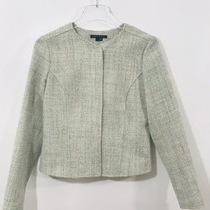 Theory Cropped Boucle Wool Jacket
